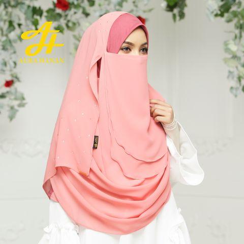 Hijab Niqab Letiza Premiera - Pink -2.jpg