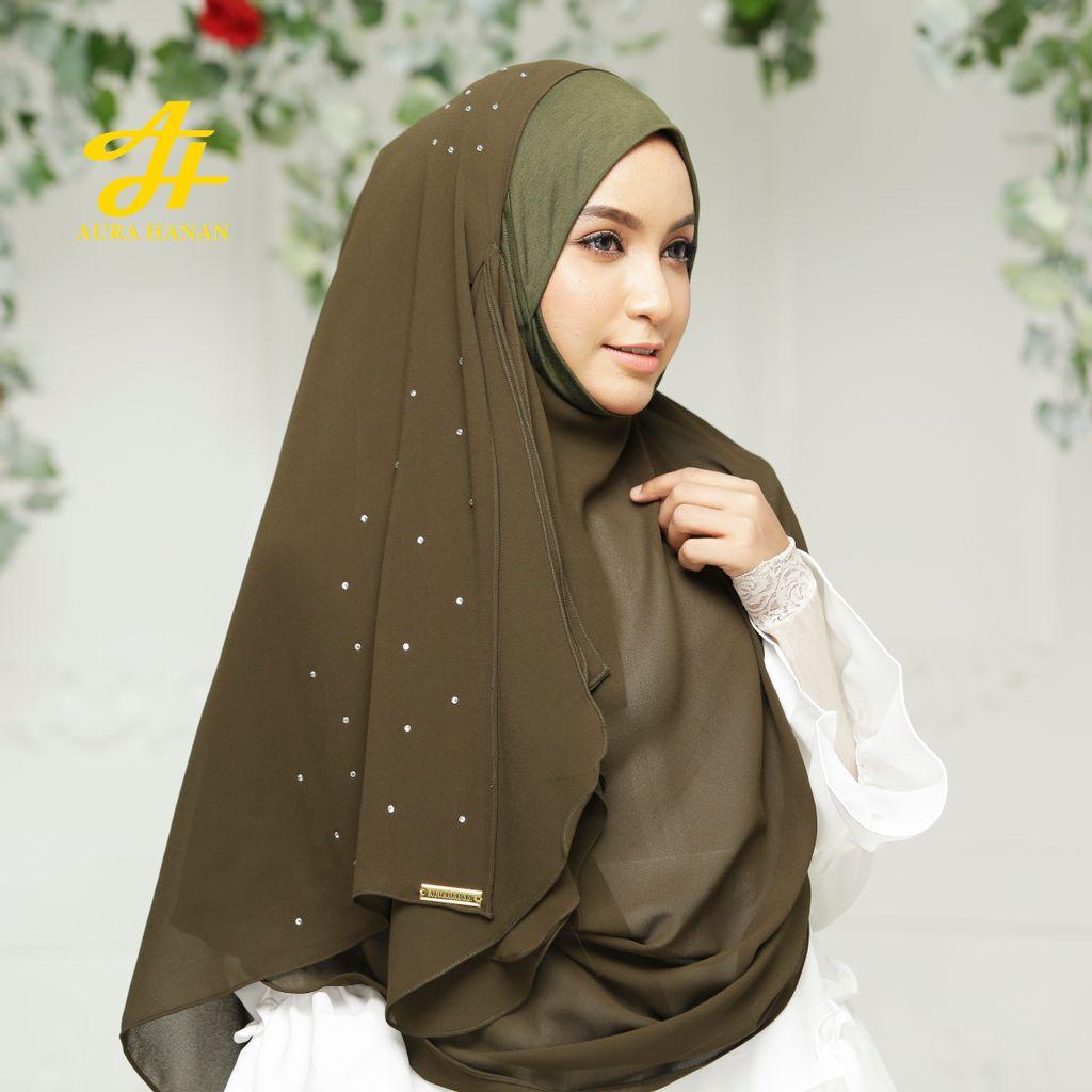 Hijab Niqab Letiza Premiera - Olive-3.jpg