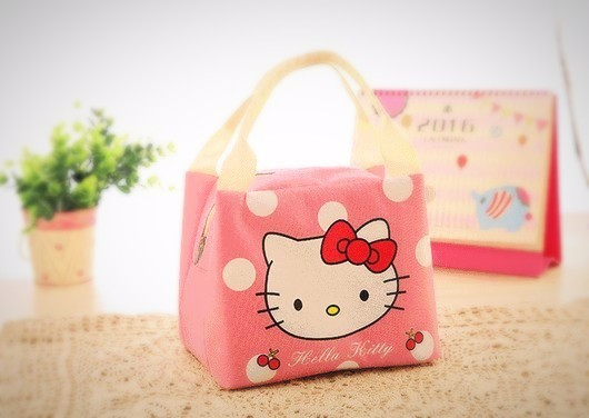 Insulated Thermal Cooler Storage Lunch Bag Hello Kitty Design