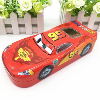 metal pencil box case sport car type car lightning mcqueen