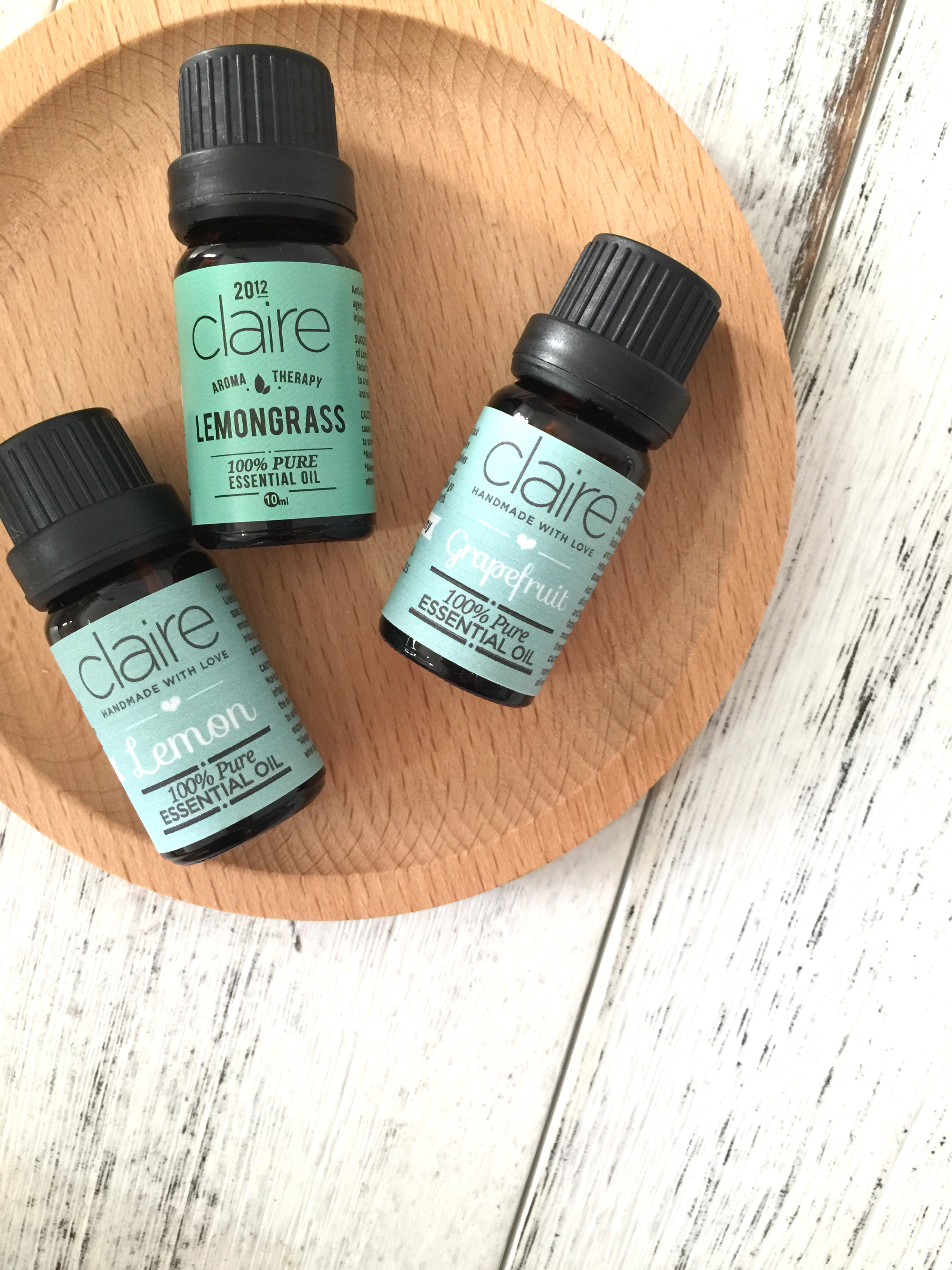 Claire Organics Essential Oil Lemon Grapefruit