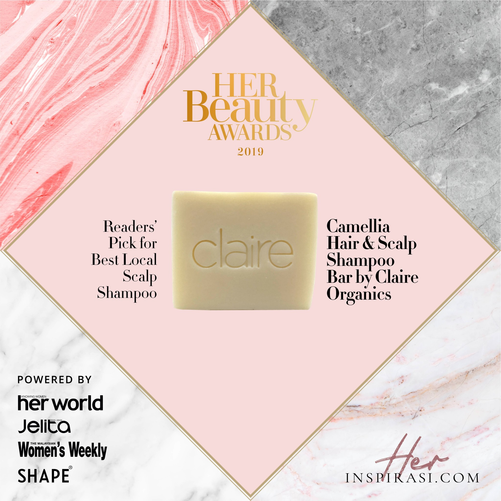 Claire Organics Award @ Best Hair & Scalp Shampoo Bar
