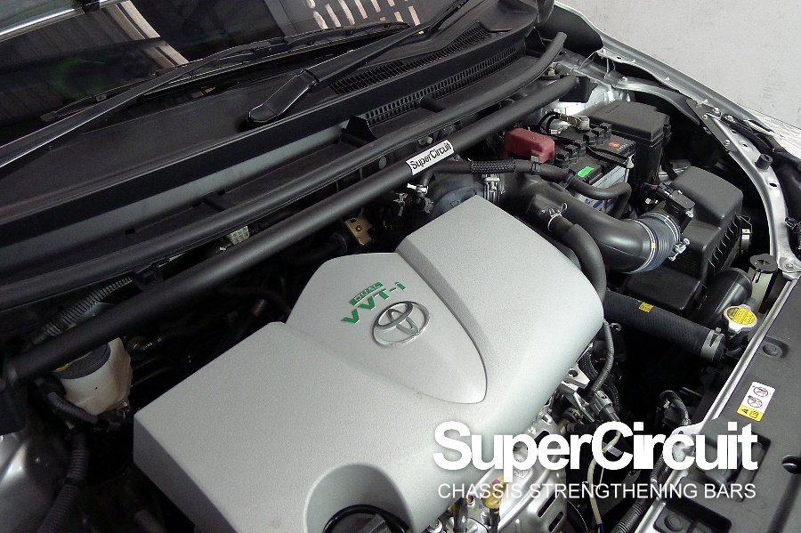 3rd generation Toyota Vios NCP151 (with the new 2NR-FE engine) Front Strut Bar/ Front Tower Bar by SUPERCIRCUIT Chassis Bars
