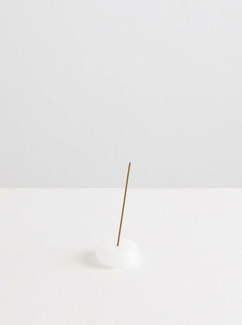 Maison Balzac_Le Galet_Glass Pebble_Incense Holder_Opaque White_1.jpg