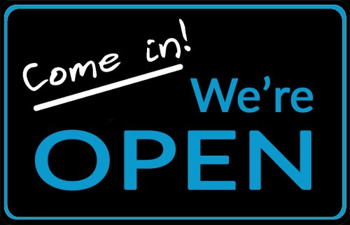 We're officially open!