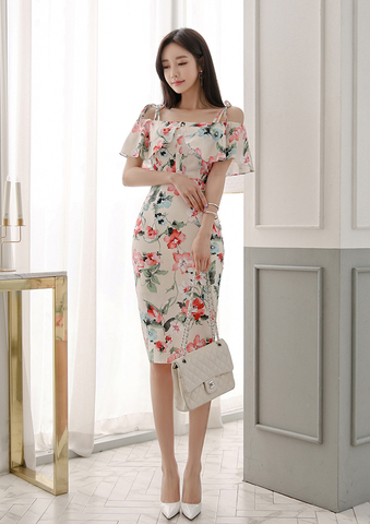 Floral Off Shoulder Top and Skirts.jpg