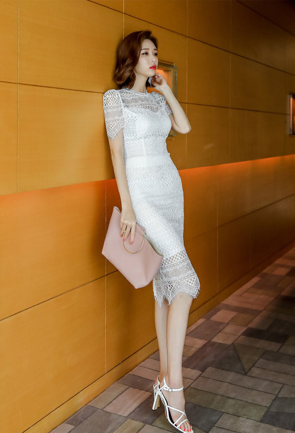 Two-piece White Lace Top And Skirt.jpg