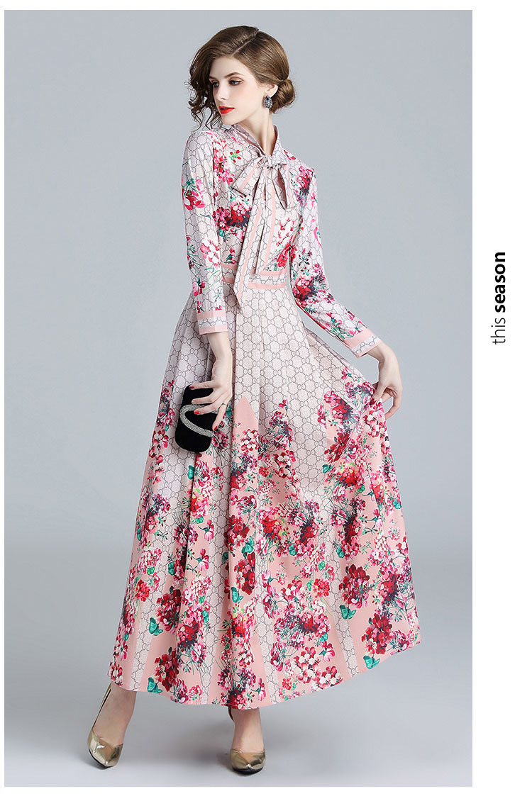 Flower Long-sleeve Slim Maxi Dress.jpg