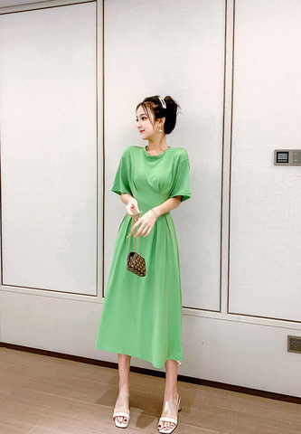 Short-sleeved Avocado Green Dress.jpg