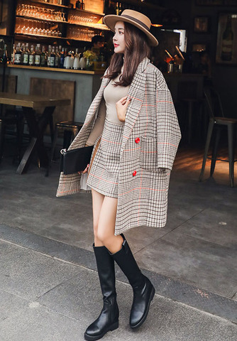 Style Plaid Wool Jacket + Mini Skirt.jpg