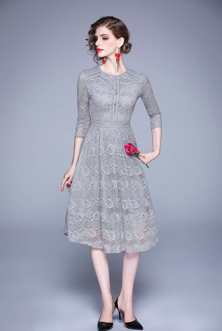 Elegant Lace Flower Midi Dress.jpg