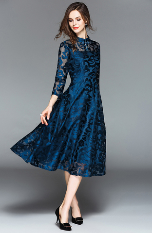Cheongsam Collar Lace Slim Dress.jpg