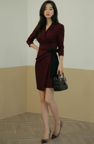 Red Wine Split Slim Dress.jpg