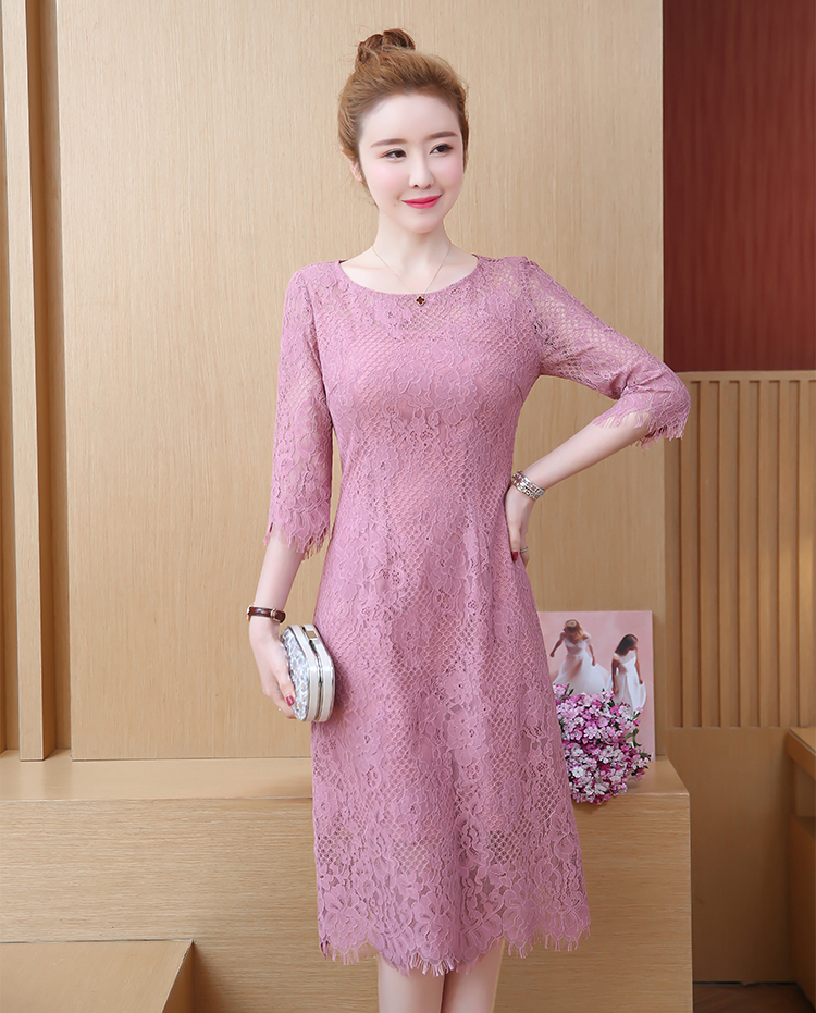 Hook Flower Lace Pink Dress.jpg
