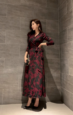 Retro V-Neck Wrap Maxi Dress.jpg