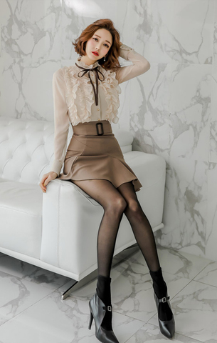 Long-sleeve Top + Ruffled Slim Skirt.jpg