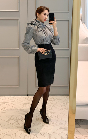 Houndstooth Blouse + Skirt Set.jpg