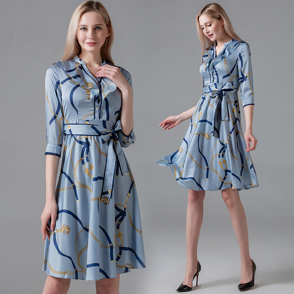 Retro Light Blue A-line Dress.jpg