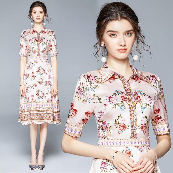 Retro Flower A-line Dress.jpg