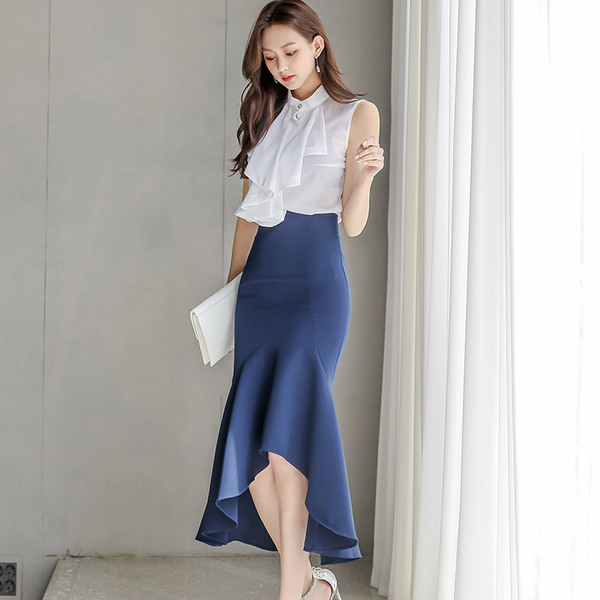 White Ruffled Top + Ruffled Blue Skirt.jpg