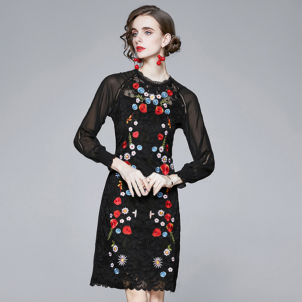 Black Hollow Flower Embroidery Dress.jpg