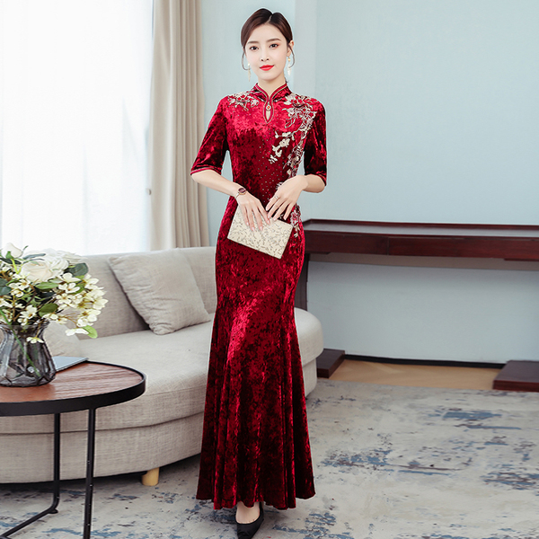 Red Embroidery Maxi Evening Dress.jpg