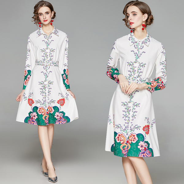 White Lapel Long-sleeve Dress.jpg