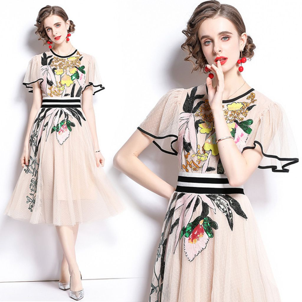 Retro Lace Mesh Sequin Embroidered Dress.jpg