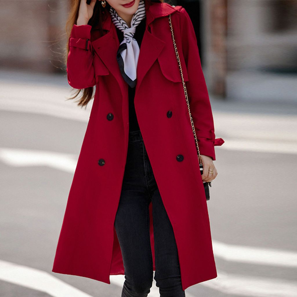 Mid Length Double-breasted Coat-Red wine jacket.jpg