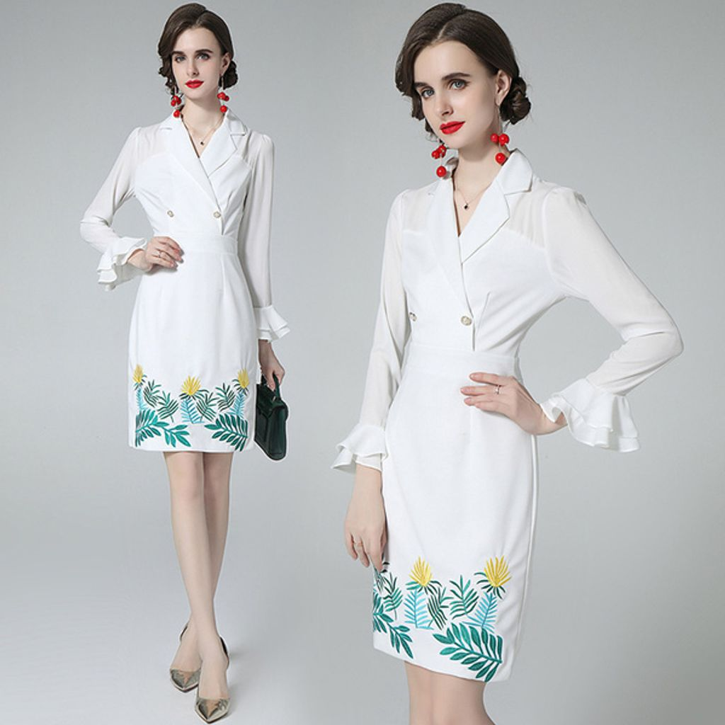 White Embroidery Suit Collar Dress.jpg