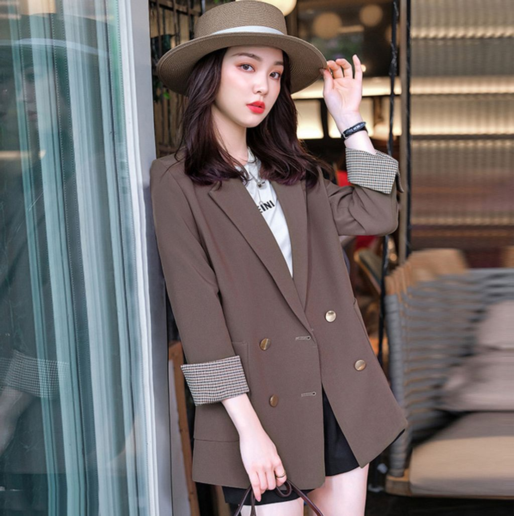Casual Loose Women's Jacket-Brown color-Her Fashion Boutique.jpg