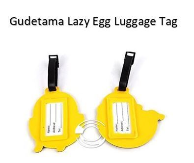 Gudetama Lazy Egg Luggage Tag (创意蛋黄哥行李吊牌)