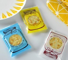 Food Grade Plastic Packing Bags Self-adhesive Candy Cookie (7*10+3cm)