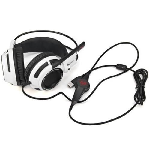 SOMIC G941 7.1 VIRTUAL SURROUND SOUND USB GAMING HEADSET WITH VIBRATING FUNCTION MIC VOICE CONTROL (WHITE AND BLACK)