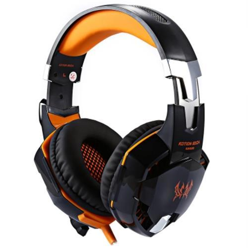 EACH G2000 GAMING HEADSET WITH HIDDEN MIC FOR COMPUTERS GAME (ORANGE)