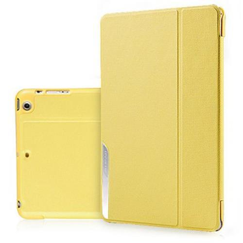 BASEUS DORMANCY STYLE ARTIFICIAL LEATHER AND PLASTIC MATERIAL STAND CASE FOR IPAD MINI 2 RETINA (YELLOW)