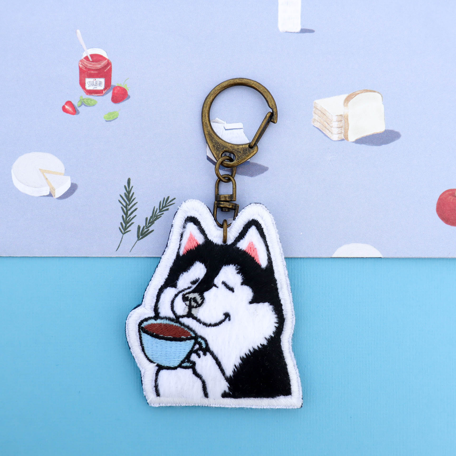 Little OH! 手工飾品 | Featured Collections - 刺繡布品 embroidery keychain