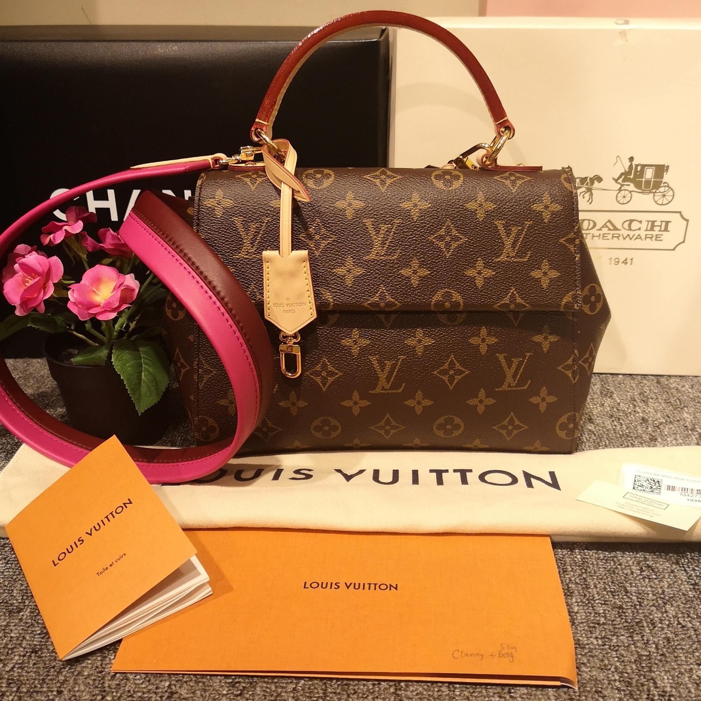 97e61277d6e Louis Vuitton Monogram Cluny BB (Pink)
