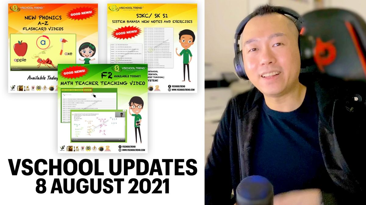 New Updates for Vschool Trend for Preschool, Standard 1 and Form 2