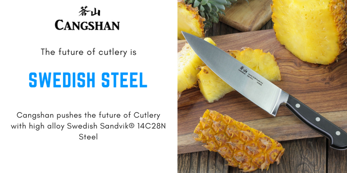 Cangshan pushes the future of Cutlery with high alloy Swedish Sandvik® 14C28N Steel.png