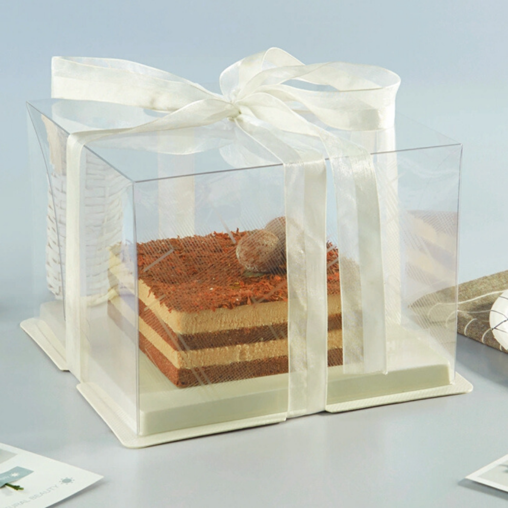 one tier transparent cake box with white base a.png