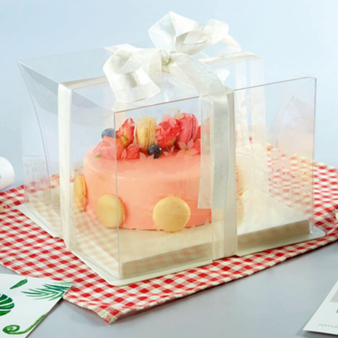one tier transparent cake box with white base b.png