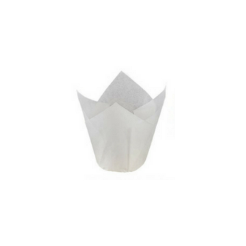 Pastry Pro Baking Cup Tulip Without Step White 200 pcs.png