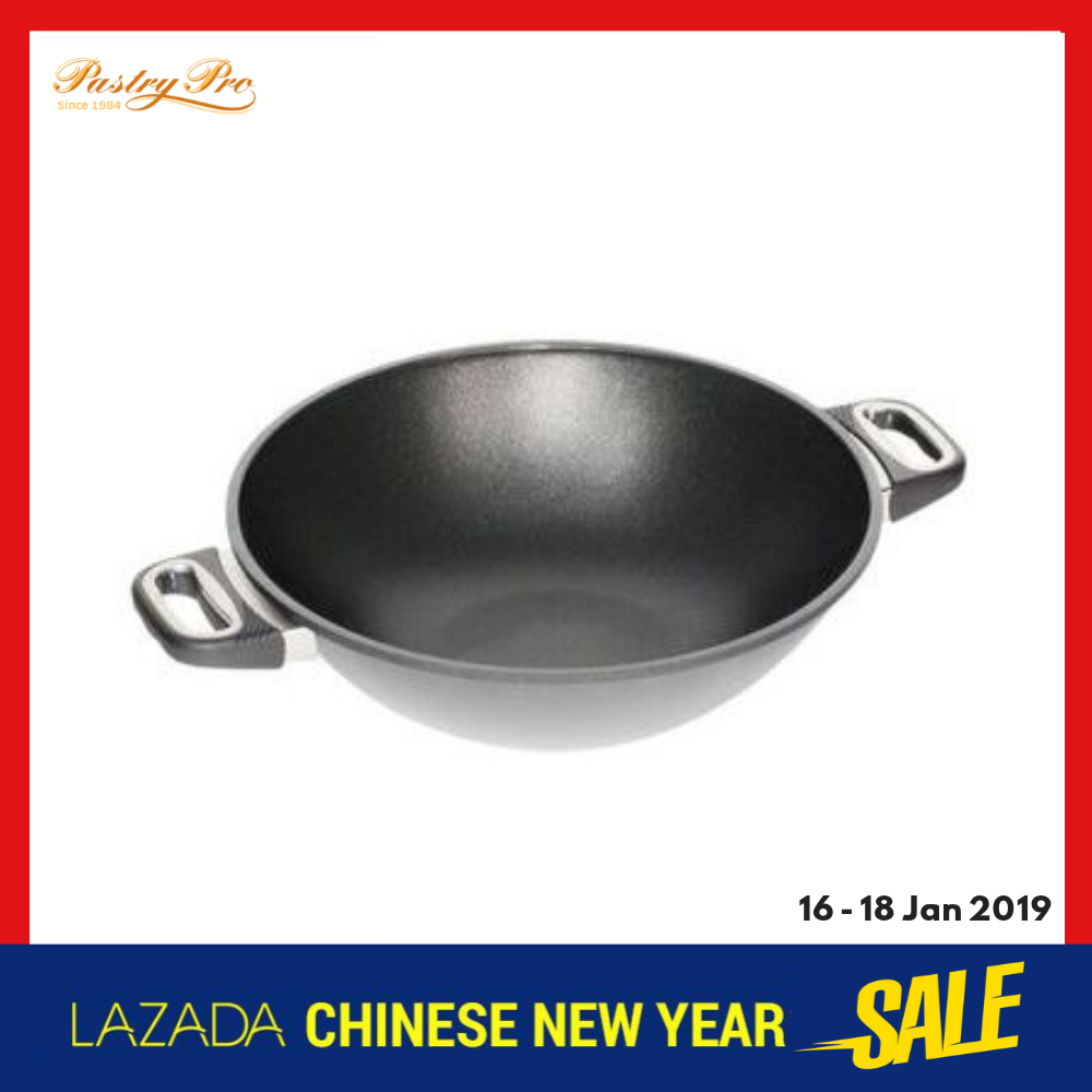 AMT, Two Handles Induction Wok With Lid (36 x 11 cm, 4.3 Litre)