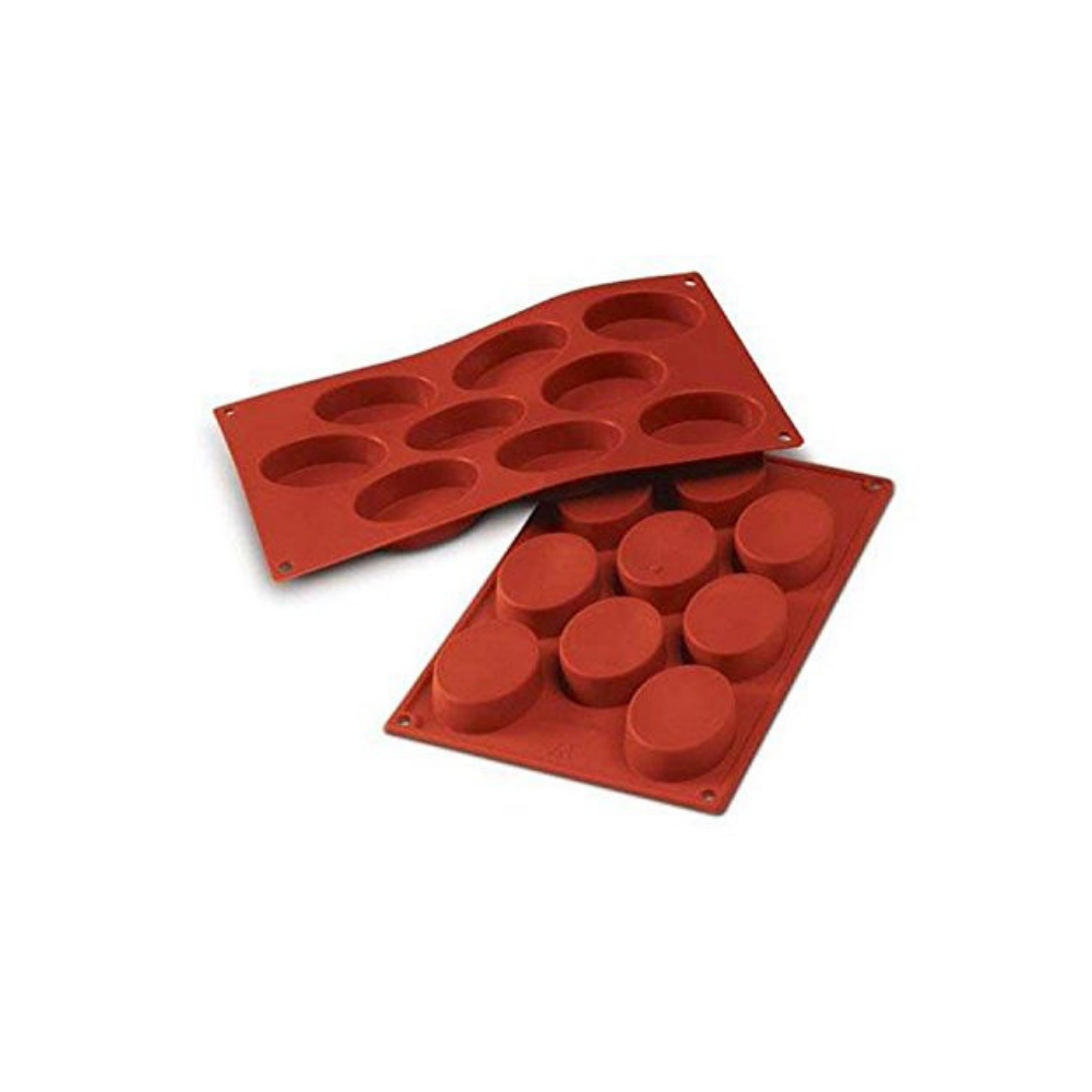 silicone mould, silikomart, medium ovals, sf018.png