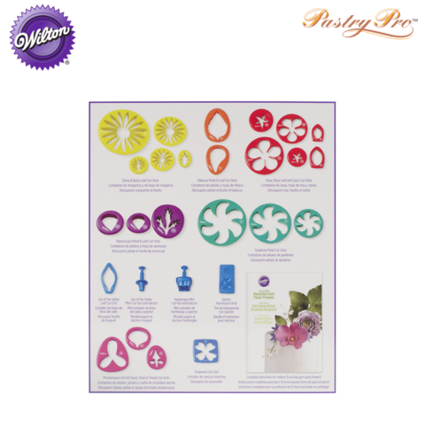 Gum Paste Outs Piece 28 PC GP Flowers Cut Out Set 2109-7987 a.png