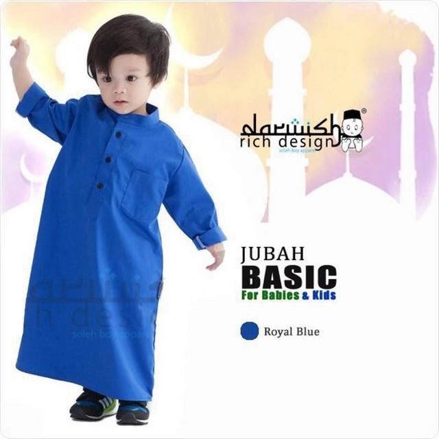 jubah kanak-kanak blue