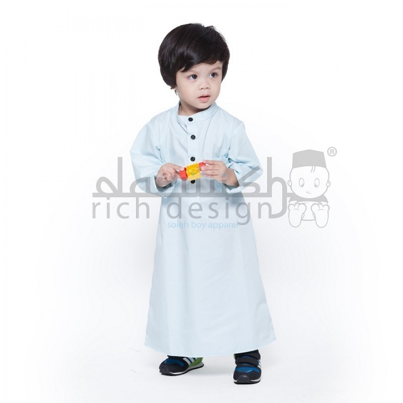 Jubah light blue