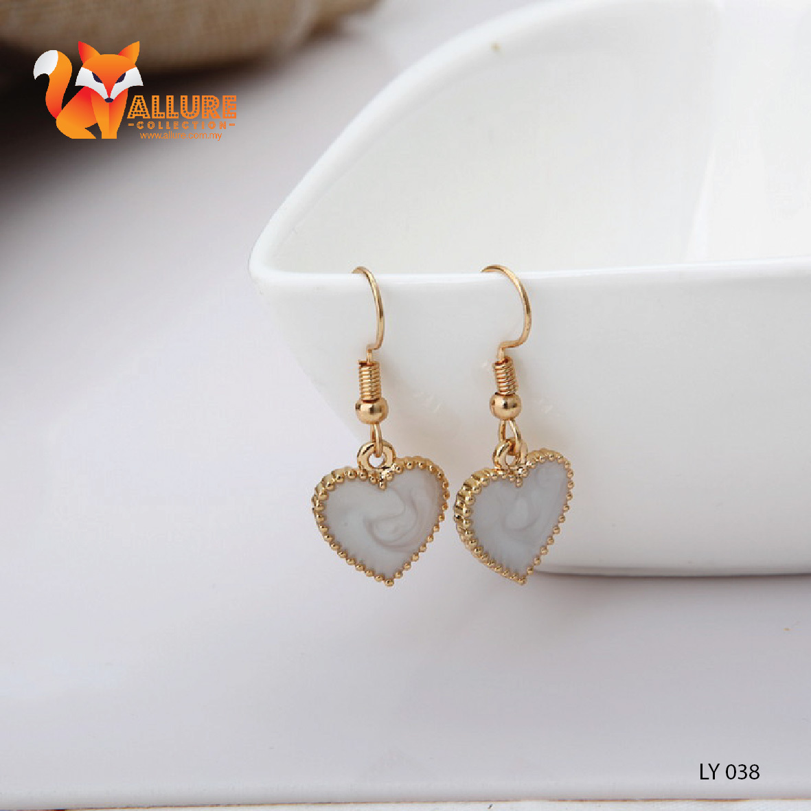 gold heart earrings us hoop tone shaped bamboo icing