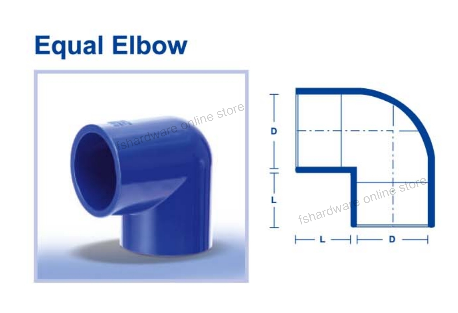 ABS FITTING EQUAL ELBOW
